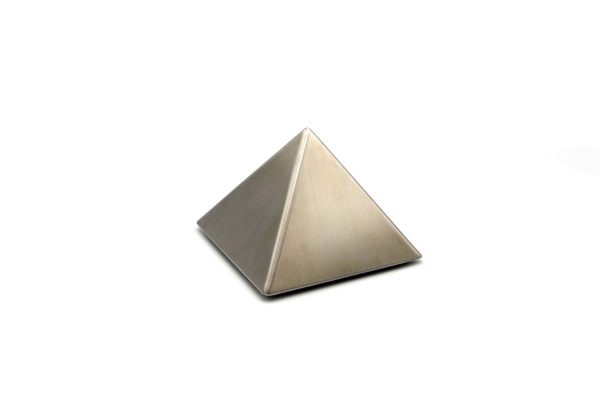Mini urn RVS - piramide om as in te bewaren
